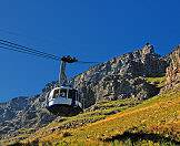 The Table Mountain cable car rotates, offering 360 degree views to passengers.