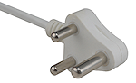 A typical three-prong plug.