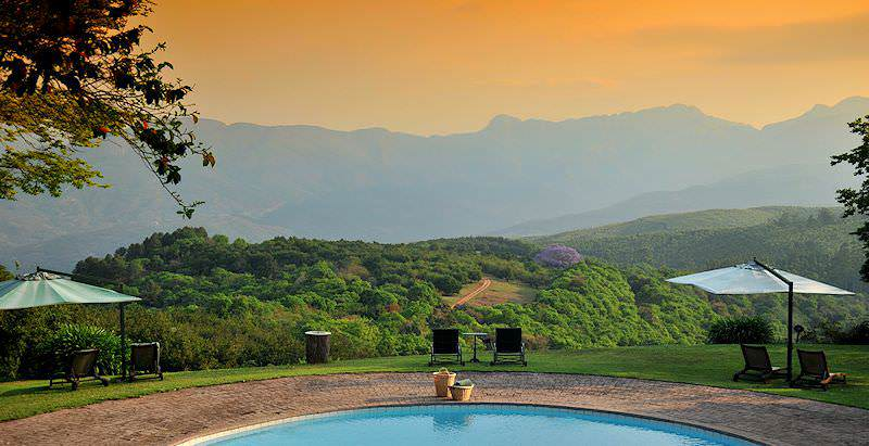 A striking view of the Magoebaskloof from the Coach House Hotel in South Africa's Limpopo province.