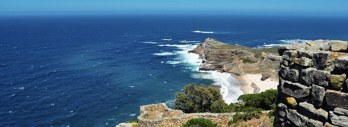 The Cape of Good Hope Nature Reserve as seen from the old lighthouse.