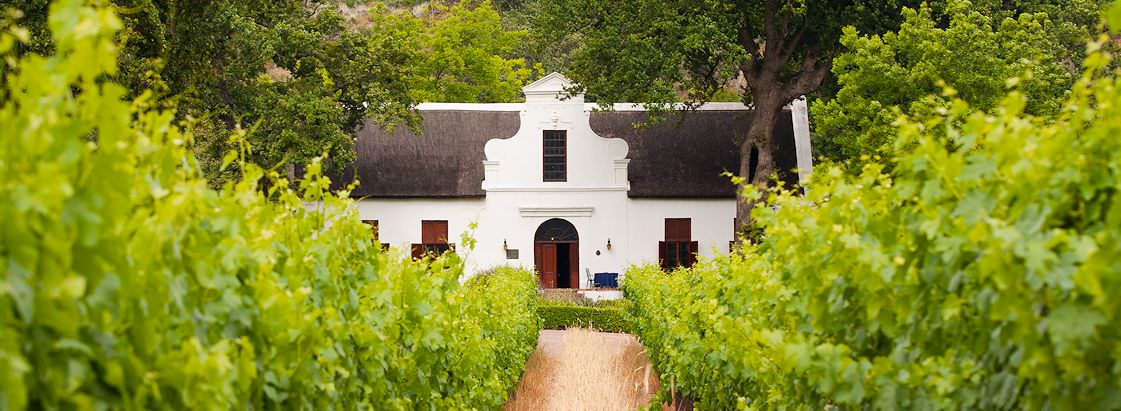 A fine example of Cape Dutch architecture on the Paarl Wine Route.
