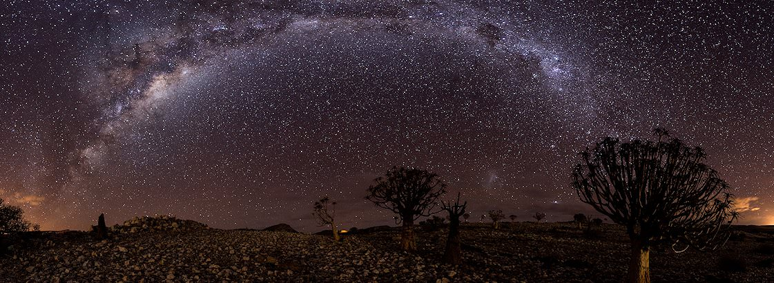 The spectacular southern night sky above the Namib Desert.