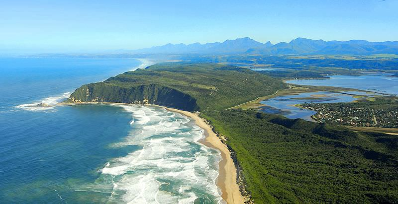 An aerial view of Sedgefield in the Garden Route region.