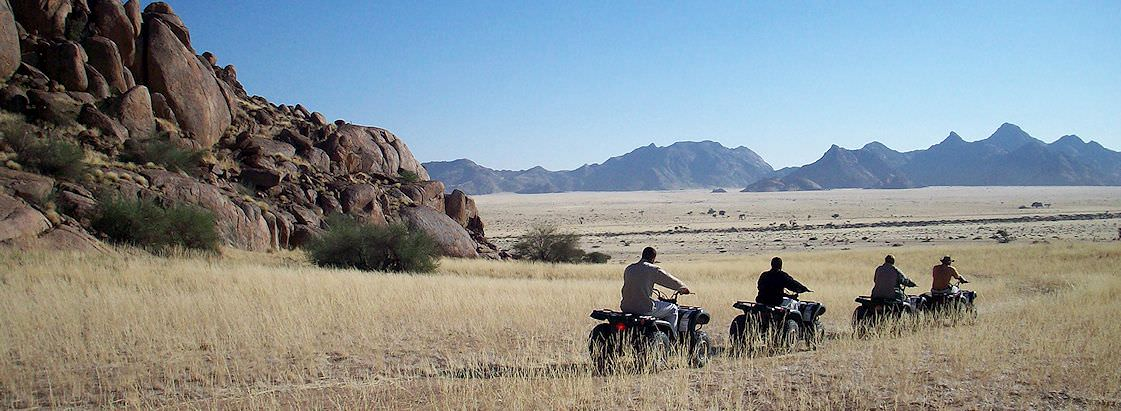 A guided quad biking adventure in the Namib Desert.