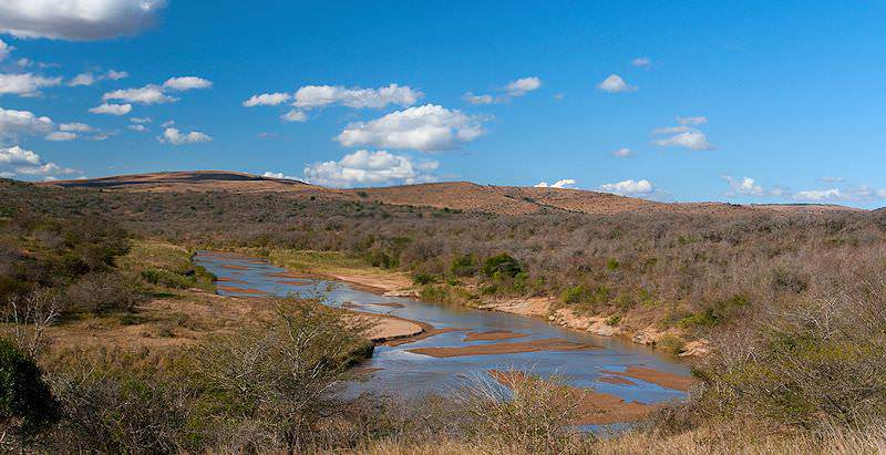 The Umfolozi River in the Hluhluwe-iMfolozi Game Reserve.