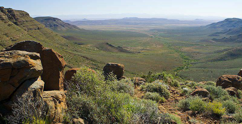 A dramatic view across the Tankwa Karoo National Park.