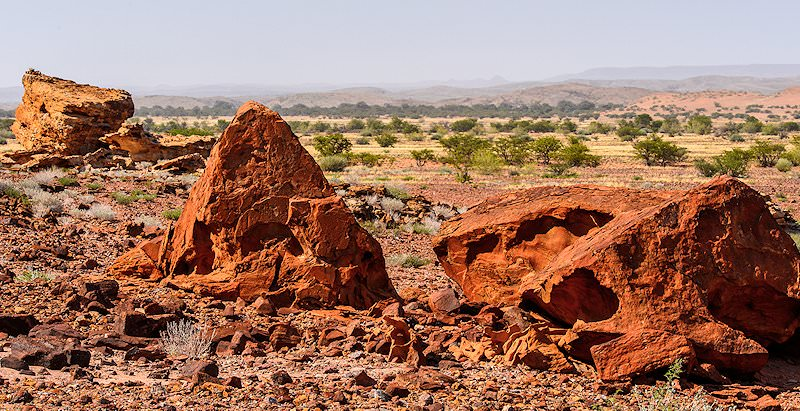Unique rock formations in the Twyfelfontein area.