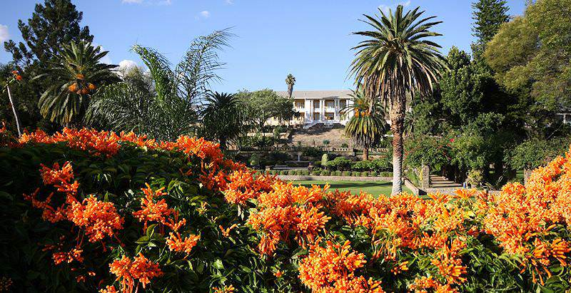 The Parliament Gardens in Windhoek.