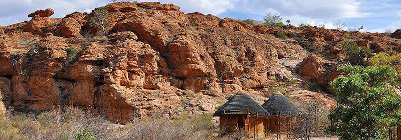 Traditional buildings inside the Mapungubwe National Park.