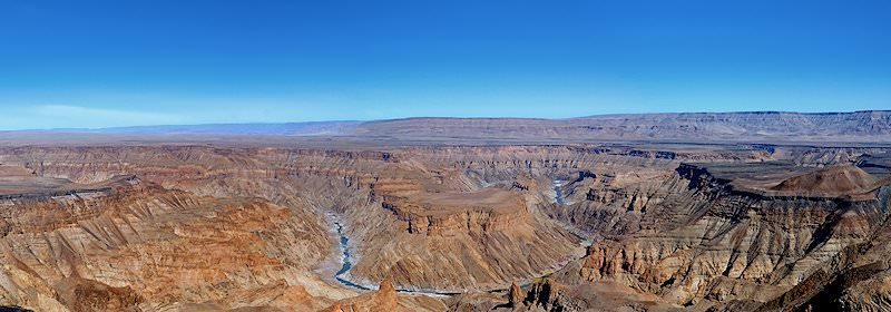The Fish River has carved out the canyon over the millennia.