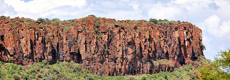 The dramatic cliff face of the Waterberg Plateau.