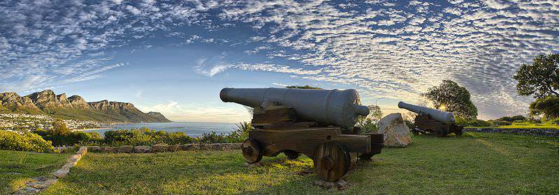 Historic cannons in Cape Town.