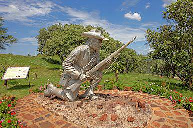 A statue of a famous Boer war hero.
