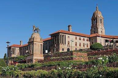 The Union Buildings in the capital city of Pretoria.