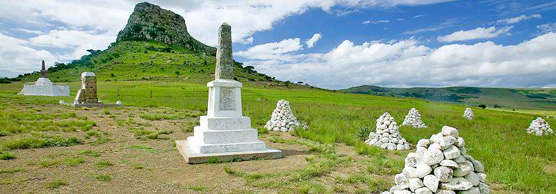 Grave sites on the battlefield of Isandlwana.