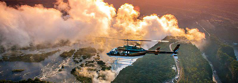 An awe-inspiring helicopter flight above the Victoria Falls.