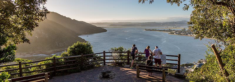 Striking views of the Knysna Lagoon enjoyed from the Featherbed Nature Reserve.