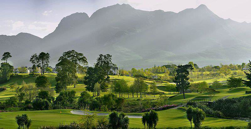 Mature trees line the fairways of the highly esteemed Fancourt Montagu Golf Course in the Garden Route.