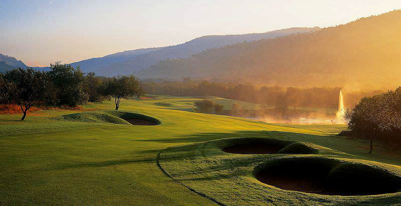 A bewitching morning scene at the Gary Player Golf Course in Sun City.