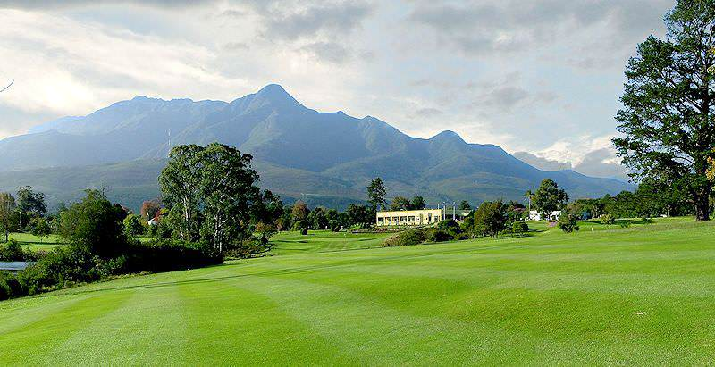 The Outeniqua Mountains stand guard above the George Golf Club in the Garden Route.