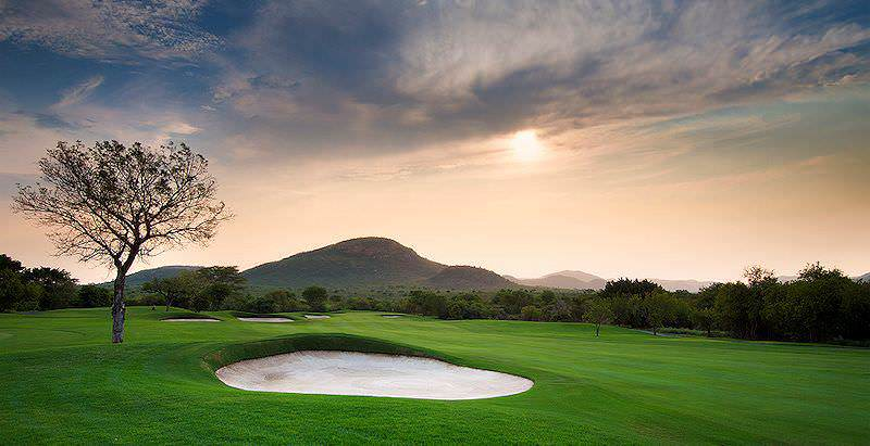 The immaculate fairways of Leopard Creek Golf Course on the edge of the Kruger National Park.