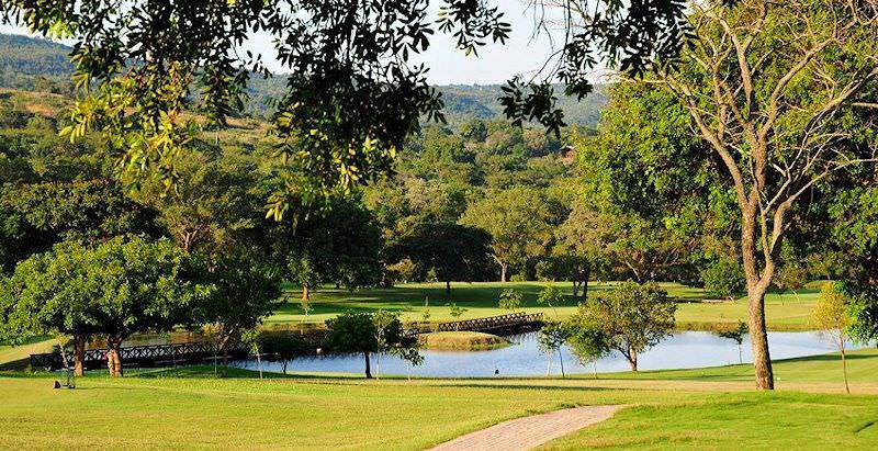 Ordinary Sabie River Bungalows Part - 9: A Wooden Foot Bridge Spans A Water Hazard At The Sabi River Sun Golf Course.