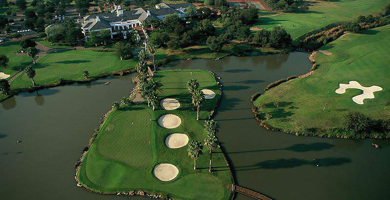 An aerial view of the exclusive Silver Lakes Golf Estate in the capital city of Pretoria.