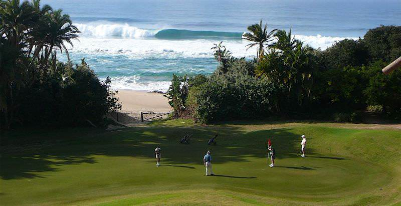 Southbroom Golf Course is surrounded by lush sub-tropical vegetation.