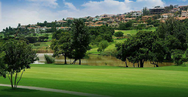 Exclusive mansions overlook the Woodhill Golf Course in the capital city of Pretoria.