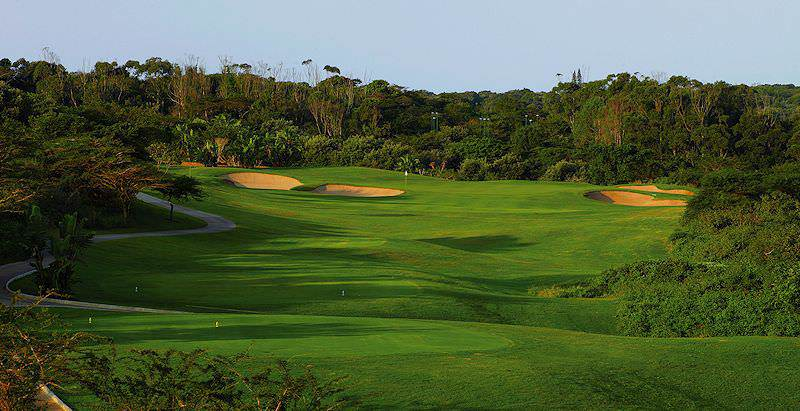 Zimbali Golf Course is surrounded by lush stretches of sub-tropical jungle.