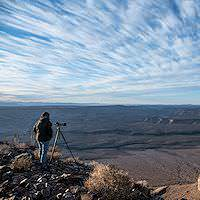 A photographer at the Fish River Canyon.