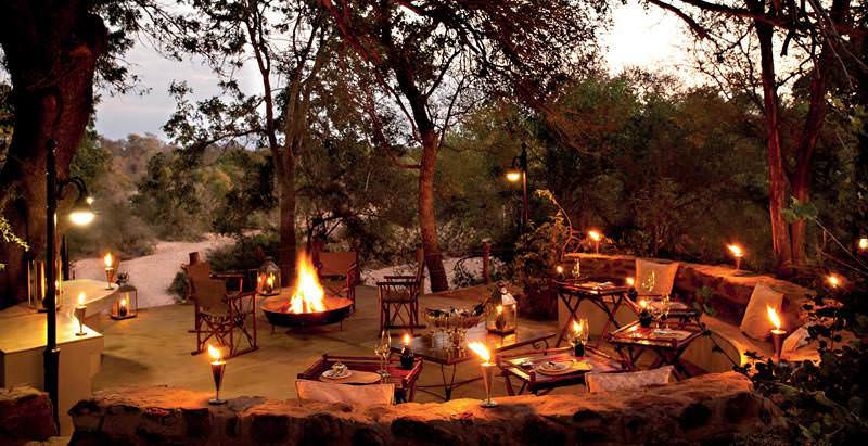 A boma evening at Kings Camp during a 7 Day Luxury Timbavati and Sabi Sand Safari.