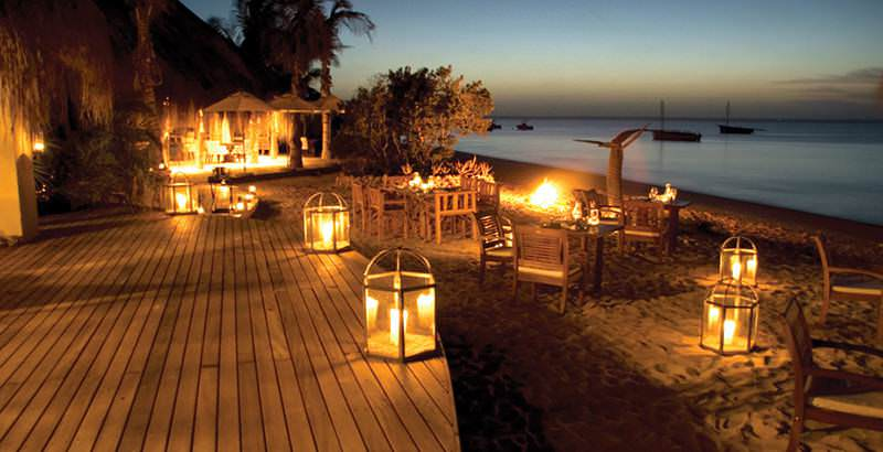 Romantic twilight ambience during the 10 Day Benguerra Island and Quirimbas Safari in Mozambique.