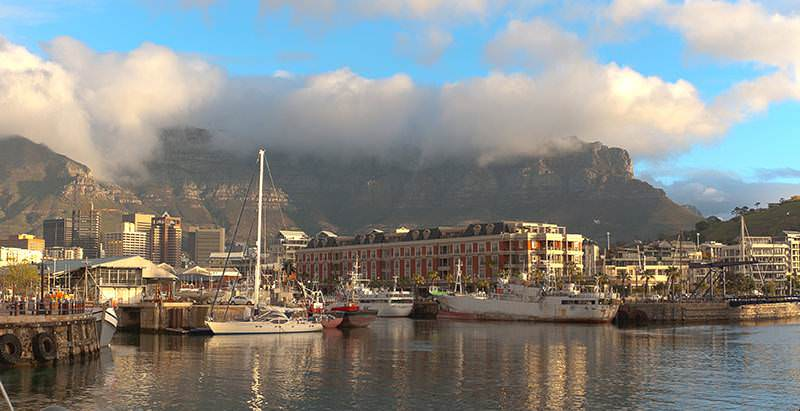 The Victoria and Alfred Waterfront is visited during the 10 Day Best of South Africa Tour.