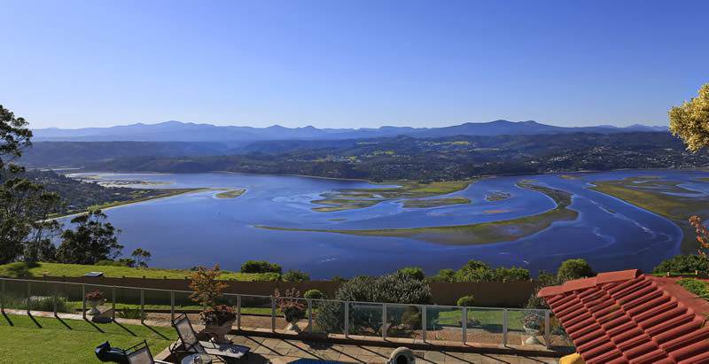 Dramatic views of the Knysna Lagoon may enjoyed during the 21 Day In-Depth South Africa Tour.