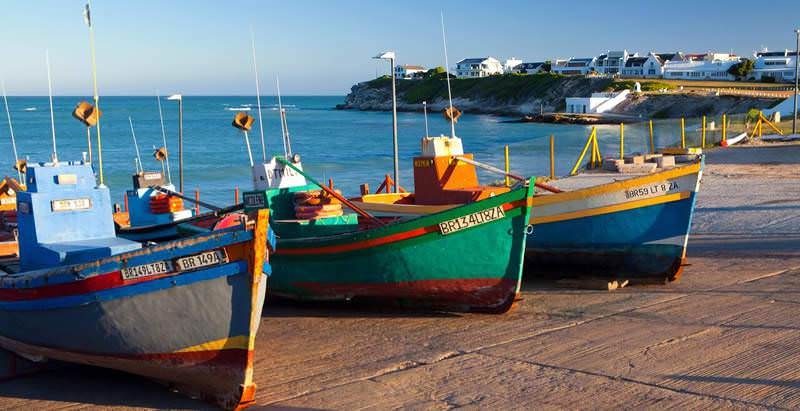 The sleepy fishing village of Arniston is visited halfway through the 8 Day Cape Town and Garden Route Tour.