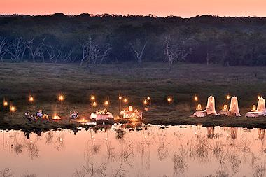 A romantic sleepout in the Phinda Private Game Reserve.