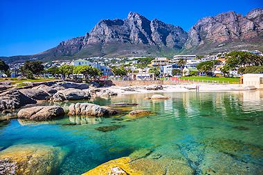 The exclusive shores of Clifton beach in Cape Town.