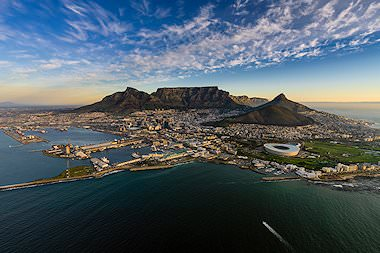 A striking aerial view of South Africa's beloved Mother City - Cape Town.