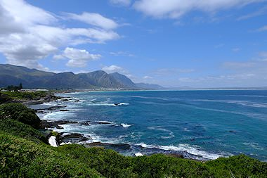 The spectacular coastline of South Africa's Overberg region.