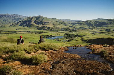 Dramatic mountain scenery in Lesotho.