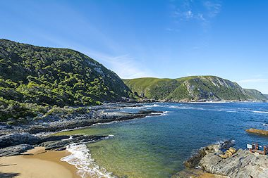 The striking coastline of the Garden Route in South Africa.