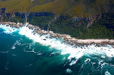 Coastline of the South African Garden Route