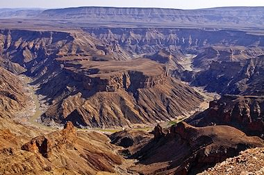 Spectacular view of the Fish River Canyon.