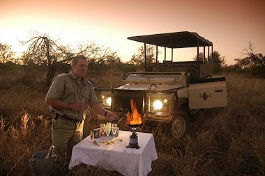 A sunset pitstop in the Kruger National Park.