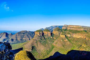 The rock faces of the Blyde River Canyon in Mpumalanga.