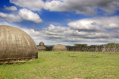 Traditional huts in Zululand.