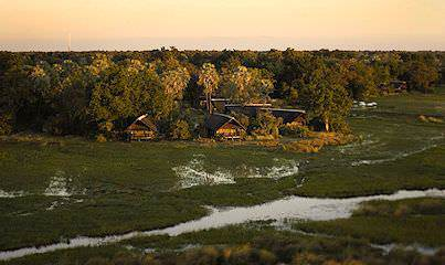 Botswana's Eagle Island Lodge in the Okavango Delta.