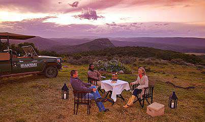 A safari pitstop at Shamwari Private Game Reserve in South Africa.